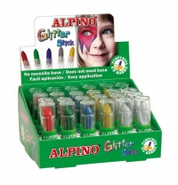 EXPOSITOR GLITER STICK 24 UNIDS. COLORES SURT.