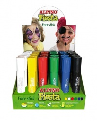 EXPOSITOR FACE STICK 36 BARRAS 6 COLORES